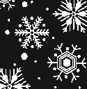 SNOW tissue paper black